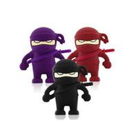 Wholesale Hot GB cartoon Ninja USB Flash Memory Pen Drive Sticks Drives Disks Pendrives