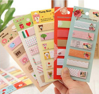 Wholesale Cartoon Paper Notes Bookmark Handy Sticky Notes Label Bookmark Stickers
