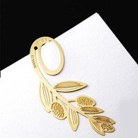 Wholesale Gold plated lovely bookmarks wheat Design per Singpore post