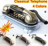 Wholesale Fashion Novelty Vintage Retro Ancient Antique Classical Telephone Wall Corded Phone Home Office Desk