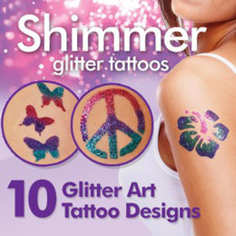 Wholesale Shimmer Glitter Tattoos Create Your Body Art shimmering powder tattoo stick paper