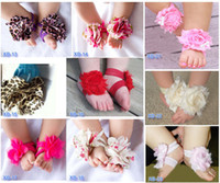 Wholesale New Baby Feet Ornaments Barefoot Sandals Flower Feet Saver Children kids Accessories