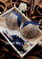 Wholesale The latest Bra and Panty Set Underwear lady s push up bra secret sexy bra sexy bra blue pink