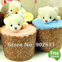 other accepts credit cards - So Cute Bear Accept Credit Card New Customized Cotton Towel Lovely Bear Cupcake Towel Cake