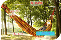 Wholesale Camping cotton Comfortable Backyard HANGING single color hammock