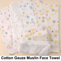 Yes baby washcloths free shipping - 10pcs New Baby Cotton Gauze Muslin Face Towel Wipe Saliva Washcloth Handkerchief