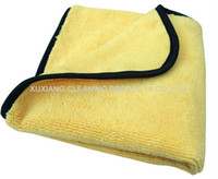 Wholesale 360gsm quot Plush Microfiber Two Different Sides Car Care Towel Auto Cleaning Detailing Waxing Polish