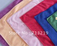 bath towels lot - 100pcs x25cm size towel microfiber towel cleaning washing bath towel quick dry solid col