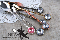 Wholesale Coffee Spoon Zinc Alloy Surface Plating cm Color Europen Style Shiny Easy To Clean Table Flatware JJ0115