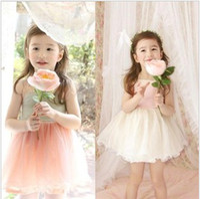Wholesale 2015Summer Hot Sale Children Dresses Children s Clothing Baby Girl s Yarn Lace TUTU Suspender Dress Multilayer Yarn Dress Kids Wear