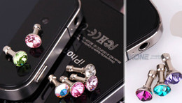 10000pcs diamond Earphone Headphone anti Dust plug dust Cap for iphone 4 4s for 3.5mm plug phone