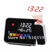 Mechanical Desk Clocks China (Mainland) Multi-Function Digital Project Projection Alarm Clock with Weather Station Nice Gift