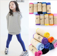 Wholesale solid cotton girls children Leggings pant tights legging