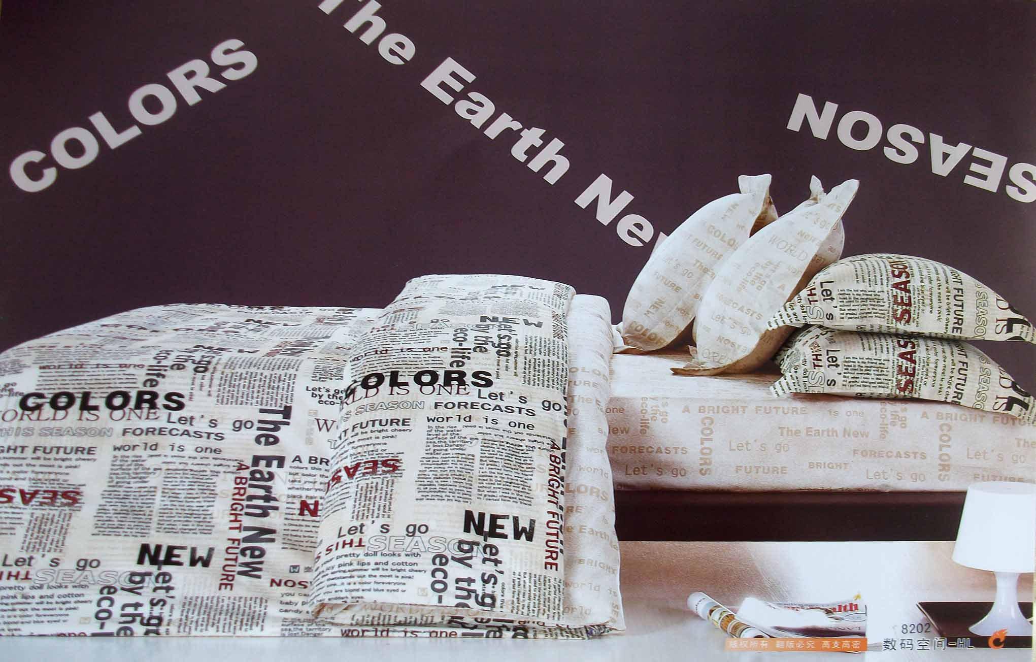 English Newspaper Bedding Comforter Set