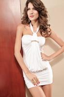 2013 de la ropa interior del paquete del cuello colgante de cristal de la parte superior del diamante nalgas del vestido apretado atractivo de la ropa interior 2514-1
