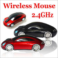 Wholesale Retail box GHz USB Wireless RF Optical Mouse Car Auto mode Blue ray Mice Computer Laptop MAC