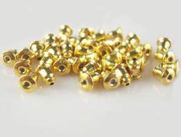 New Gold Plated Metal bullet Earring Plugs Ear Stud Back Stopers Earring Back Ear Cap MG1