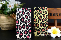 apple leopard support - Hot sell leopard iPhone phone cute shell casing thin matte protective shell support mixed batch