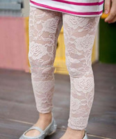 Wholesale Children legging girl lace legging for summer capri pants cropped trousers girl clothes White Black