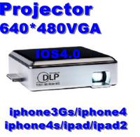 Wholesale DLP Mini Projector LED Portable Projector Small Box for iPhone iPad iPod Media Projector