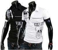 Men Cotton Polo Men's Stylish Polo Shirts Slim Fit short sleeves Casual T-Shirt Letter printingTops M-XXL