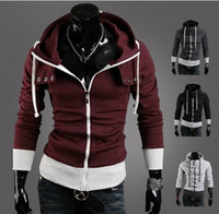 Wholesale 2557 New Men s Hoodies Sweatshirts More color matching the cap Men s Jacket Coat