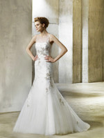 Wholesale 2013 new style sexy miasolano crane neck lace big trailing grow packet hip wedding dresses All colo