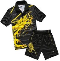 Tennis li ning - Li Ning men s Olympic badminton shirt sport Dragon Suit Table tennis shirt shorts