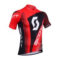 Wholesale scott black red Cycling Jersey bib shorts cycle clothing set bike suit summer cycling clothes