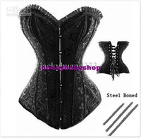 Women Corset & Bustier  Brand New Satin Full Steel Boned Lace up Back Corset Hot Sale Sexy Lingerie Top Steel Bustier