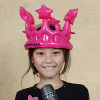 Brithday   Wholesale-10PCS lot Inflatable Crown Children Dress up Plastic Character Present for Birthday Party