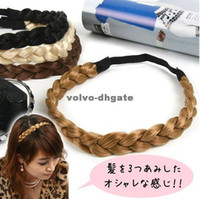 Asian & East Indian Women's Party Vintage Solid 5 Colors Knitting Braid Hairband Hair Accessories for women 250pcs lot DKHA339