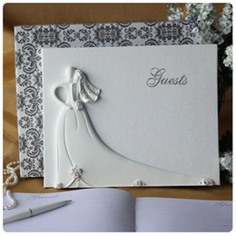 Wholesale Bride Groom Design Wedding Guest Book White Resin Wedding Decoration Party Ceremony Stuff Supplies
