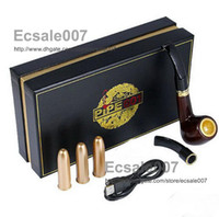 Wholesale Ceassstion Pipe Electronic Cigarette E pipe MAH Battery Gift Package Set clearomizer Health Care