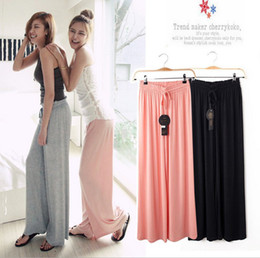 Wholesale 2013 Spring Womens All match Wide Leg Loose Pants Yoga Pant Summer Cotton Casual Sports Trouser