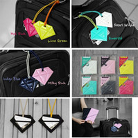 Wholesale Diamond Shape Luggage Tag Suitcase Label Bags Tags Credit Card Case Bag Parts Accessories