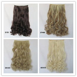 Wholesale Hair Extension Clips On sexy stylish Women s Long Curl Curly Wavy curly hair extensions