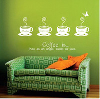 Wholesale Sweet Coffee Decor Mural Art Wall Sticker Decal