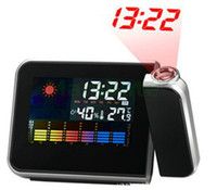 Wholesale Hot Selling Digital Weather Temperature Humidity LED Wall Projection Snooze Alarm Clock