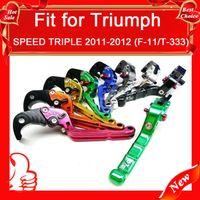 For Triumph triumph - MOTORCYCLE SPEED TRIPLE F T Triumph ADJUSTABLE amp FOLDING LEVERS