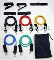 Wholesale 100set set Latex Resistance bands Exercise bands for Yoga ABS workout MYY3228