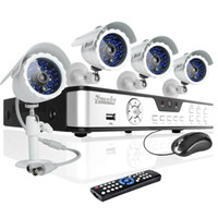 Wholesale CCTV home security system Camera CH Surveillance Security Video DVR outdor indoor ft DayNight vision TVL surveillance cameras