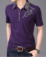 Men Polo Short Sleeve Free Shipping The New Embroidery Lapel Men's Short Sleeve T-Shirt M-XXL tk0408
