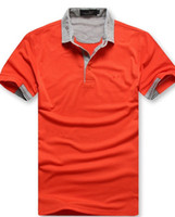 Men Cotton Polo 2013 new brand T - shirt men's cotton brand solid color gray collar