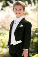 Boy's Formal Wear Model Pictures Three-piece Suit Custom Made Kid Notch Collar Children Wedding Suit Boys Attire(Jacket+Pants+Tie+Waistcoat) G968