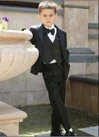 Boy's Formal Wear Model Pictures Three-piece Suit Custom Made Kid Notch Collar Children Wedding Suit Boys Attire(Jacket+Pants+Tie+Waistcoat) G969