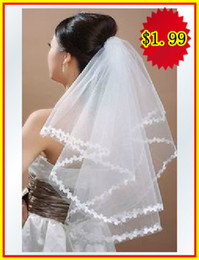 Wholesale In Stock White Ivory m veil wedding accessory Bridal wedding veil wedding dresses