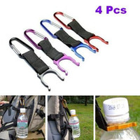 Wholesale 4Pcs Water Bottle Holder Buckle Hook Belt Clip Aluminium Carabiner Key Chain
