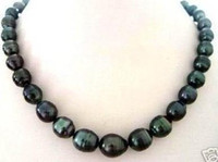 Wholesale NATURAL MM TAHITIAN RICE BLACK PEARL NECKLACE