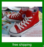 Wholesale Hot selling South Korea style classic style solid color canvas shoes